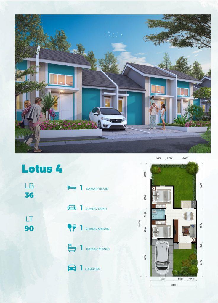 Tipe Lotus CitraIndah City Jonggol